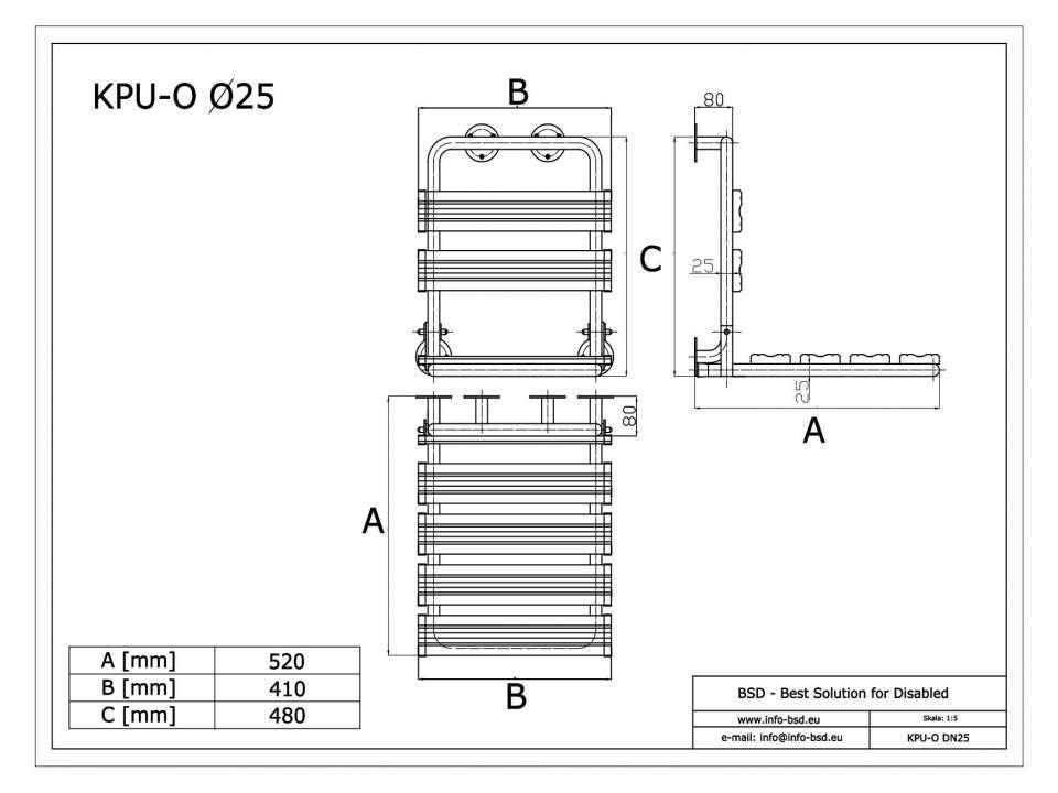 Duschklappsitz mit Wandstützen und Rückenlehne für barrierefreies Bad